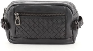 Bottega Veneta Front Pocket Waist Bag Leather with Intrecciato Detail 105