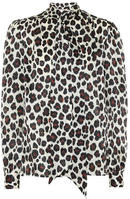Saint Laurent Leopard-print silk blouse