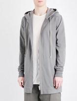 Rick Owens Longline cotton-jersey hoody