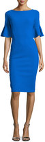 La Petite Robe di Chiara Boni Short-Sleeve Stretch Jersey Sheath Dress, Cobalt