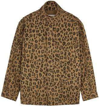 Frame Spring Cheetah printed cotton jacket