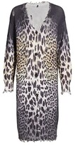 Thumbnail for your product : R 13 Faded Leopard Cardigan Dress