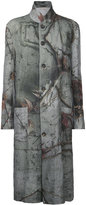 Forme D'expression - reversible printed coat - women - Linen/Flax - S