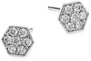 My Story The Eve 14K White Gold & Diamond Stud Earrings