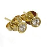 Tiffany & Co. 18K Yellow Gold Diamond Pierced Earrings