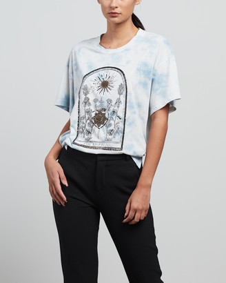 Sass & Bide Women's Blue Printed T-Shirts - The Empress Tee - Size XS at The Iconic