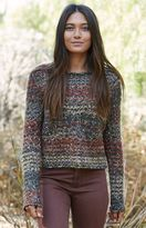 La Hearts Chunky Space Dye Pullover Sweater