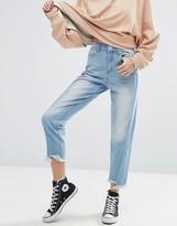 boohoo Step Hem Seam Detail Mom Jeans