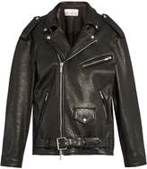 Raey Oversized tumbled-leather biker jacket
