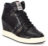 Ash Prince Studded High-Top Wedge Sneakers
