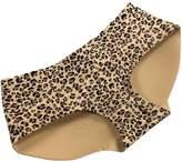 Changeshopping Women Leopard Butt Hip Padded Seamless Enhancer Low Waist Panties (M, )