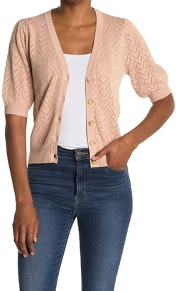 Heartloom Fitted Short Sleeve Cardigan