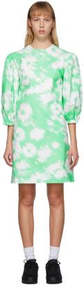 MSGM Green Flower Print Dress