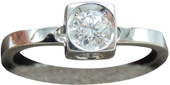 Dinh Van Le Cube Diamant Silver White gold Ring
