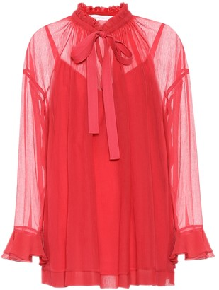 See by Chloe Cotton and silk blouse