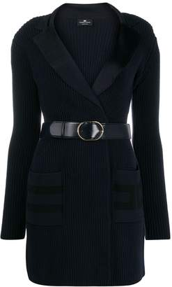Elisabetta Franchi belted knitted dress