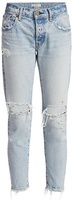Moussy Yardly Tapered Distressed Jeans