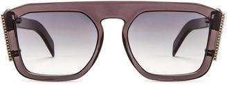 Fendi FFreedom Square Sunglasses in Grey & Dark Grey Gradient   FWRD