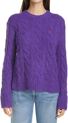 Polo Ralph Lauren Classic Cable Wool & Cashmere Sweater