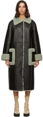 Stand Studio Black and Green Mandy Coat