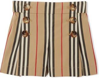 BURBERRY KIDS Icon stripe sailor shorts