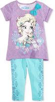 Disney Disney's® Frozen 2-Pc. T-Shirt & Leggings Set, Toddler & Little Girls (2T-6X)