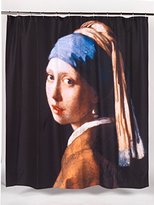 "Carnation Home Fashions Girl with the Pearl Earring"" Fabric Shower Curtain"