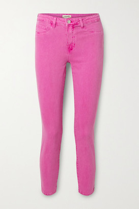 L'Agence Margot Cropped High-rise Skinny Jeans - Magenta