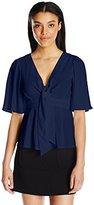 Nanette Lepore Women's Flutter Sleeve Top
