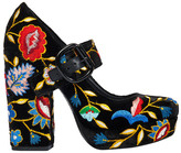 Alice + Olivia Houston Gloria Tapestry Embroidered Heel