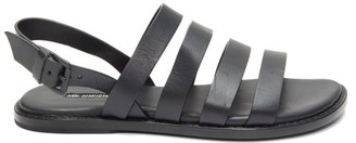 Ann Demeulemeester Multi-strap Leather Sandals - Black