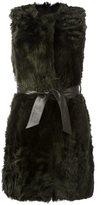 Drome belted sleeveless coat