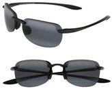 Maui Jim 'Sandy Beach Polarizedplus2' 55Mm Semi Rimless Sunglasses - Black