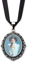 Star Wars Princess Leia Cameo Stainless Steel Pendant Choker Necklace