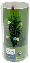 Philips Lit Green Tinsel Tree