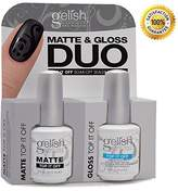 Harmony Gelish Uv Soak Off Gel Polish - Matte & Gloss Top It Off Duo (0.5 Oz) by Gelish