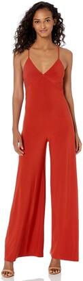 Norma Kamali Women's Low Back Slip Jumpsuit