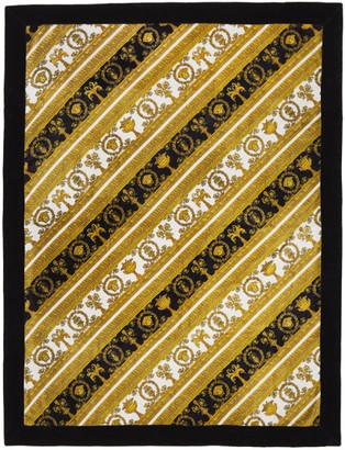Versace Black Baroque Towel