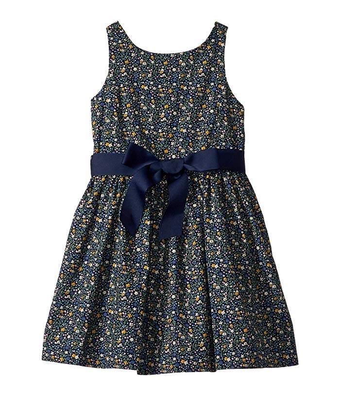 badeb4d1 Floral Cotton Poplin Dress (Little Kids)