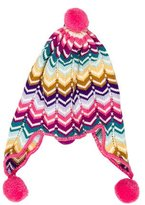 Missoni Girls' Wool Pom Pom-Embellished Beanie