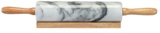 D.Line Grey Marble Rolling Pin with Wood Base