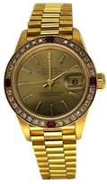 Rolex Gold Lady Datejust With Diamond And Ruby Bezel