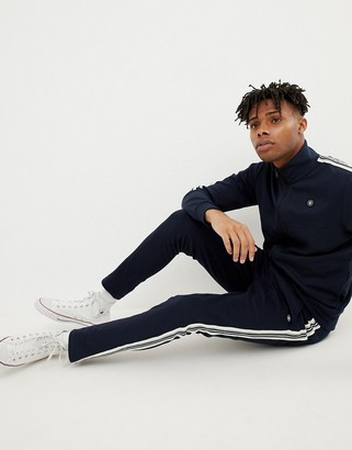 Jack and Jones Core slim fit track jogger with side stripe