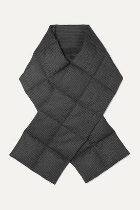 Dries Van Noten Felice Quilted Pinstriped Herringbone Wool Down Scarf