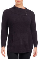Style And Co. Plus Foldover Collar Sweater