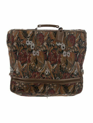 Givenchy Leather-Trimmed Floral Garment Bag Grey
