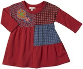 Mimi & Maggie Autumn Flowers Dress (Baby) - Red-6-9 Months
