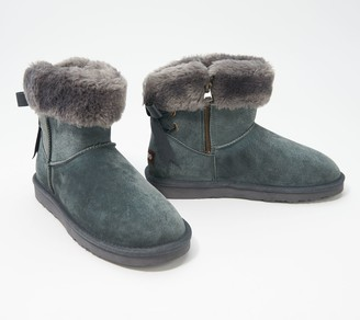 Lamo Water and Stain Resistant Suede Short Boots - Adele