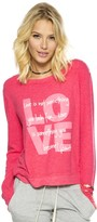 Peace Love World Love Quote Watermelon Oversized Comfy Top