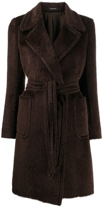 Tagliatore Dolly belted virgin wool coat